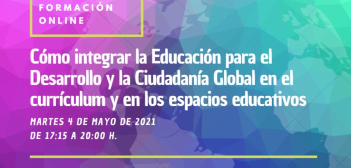 Taller online «Cómo integrar la EpDCG en el currículum y en los espacios educativos»